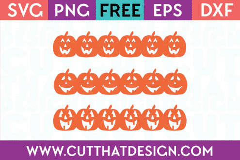 Free Cutting Files Pumpkin Borders