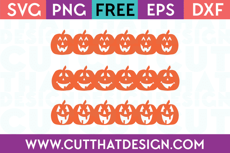Free Cutting Files Pumpkin Borders