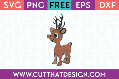 Free Reindeer Cute SVG