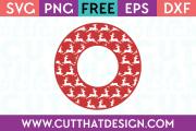 Free Reindeer Circle Frame SVG