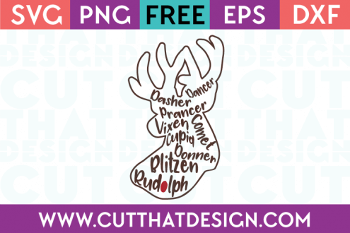 Cut That Design Free Reindeer Cutting Files