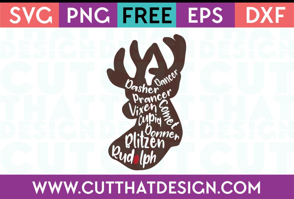 SVG Free Reindeer Cuts