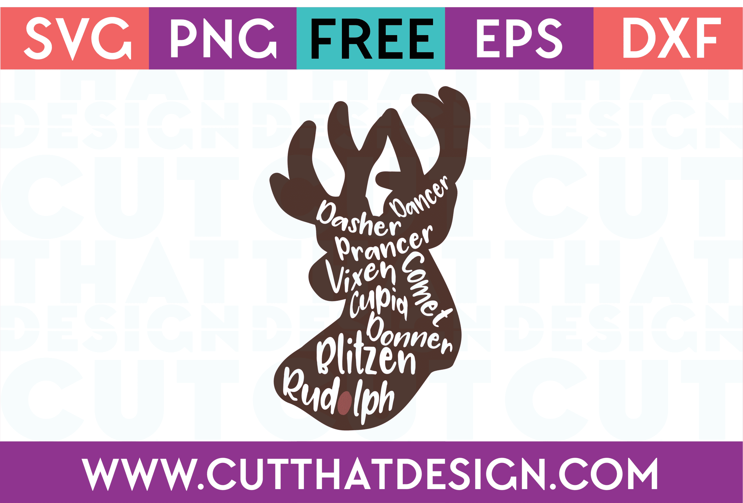 SVG Free Reindeer Cuts