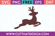 Reindeer Silhouette SVG Free