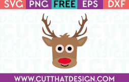 Reindeer Square Head SVG Free