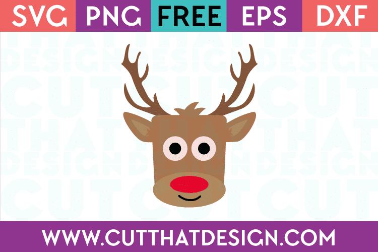 Reindeer Square Head SVG Free