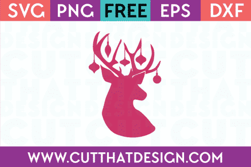Reindeer and Decoration SVG File