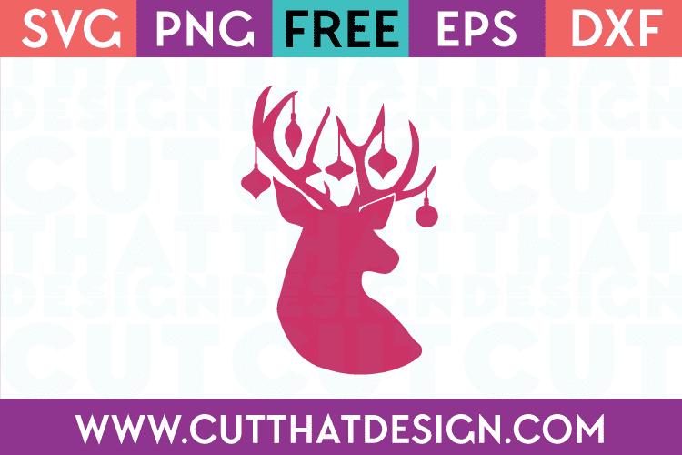 Reindeer and Decoration SVG File