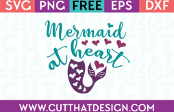 Mermaid at Heart SVG File Free