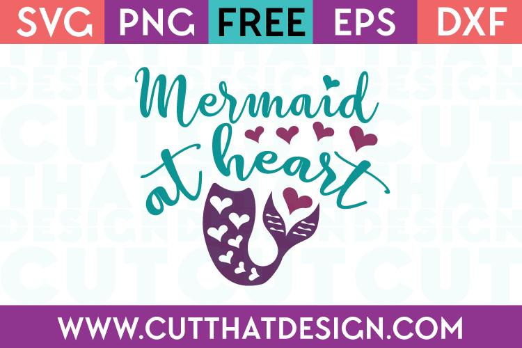 Mermaid at Heart SVG File Free