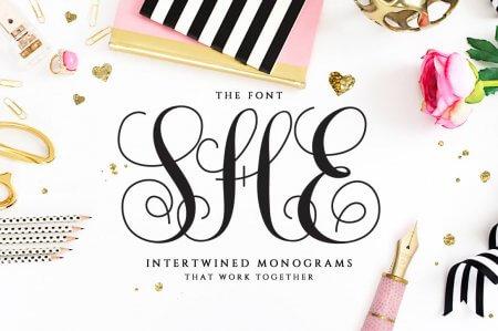 Monogram fonts
