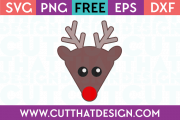 Reindeer Head SVG Free Cutting File