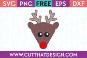 Reindeer Head SVG Free Cutting File