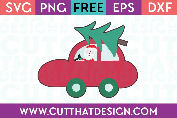Santa Car with Tree Design