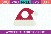 Santa Hat Free SVG Monogram