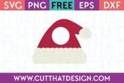 Santa Hat Free SVG Monogram