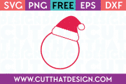 Monogram Santa Hat SVG