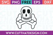 Free SVG Files Skull and Crossbones