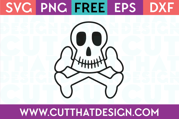 Free Skull and Crossbones SVG