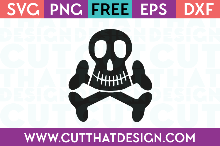 Skull and Crossbones SVG Download Free