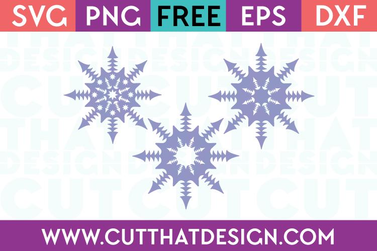 Free SVG Files Snowflake Designs