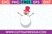 Free SVG Files Snowman Monogram