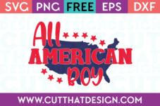 All American Boy Free SVG