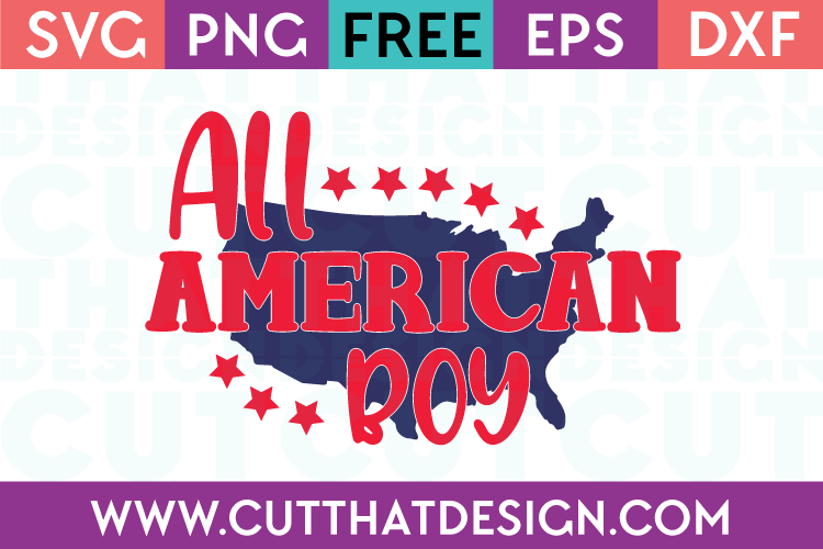All American Boy Phrase Quote Design