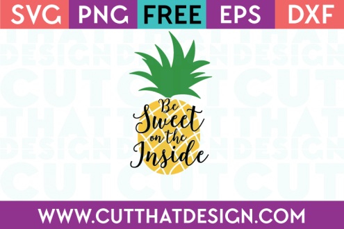 Free SVG Files Pineapple
