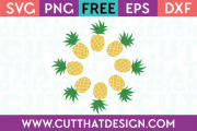 Free SVG Files Pineapple Circle Frame Monogram