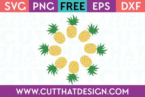 Free SVG Files Pineapple Circle Frame Monogram