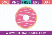 Donut SVG Cutting File Free