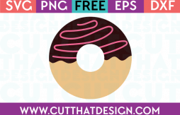 SVG Cutting File Donut Free Download