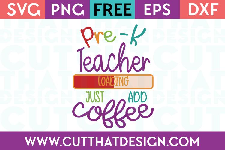 Pre-K Teacher SVG Free