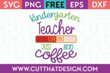 Kindergarten SVG Cutting Files Free