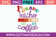 1st Grade Free SVG Cut Files