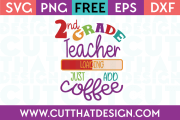2nd Grade Free SVG Cutting Files