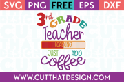 3rd Grade Free SVG Cutting Files