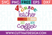 4th Grade Free SVG Cut Files