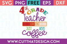 4th Grade Free SVG Cut Files