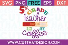 5th Grade Free SVG Cuts