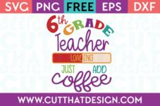 Free 6th Grade SVG Cut Files