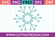 Free SVG Files Monogram Snowflake