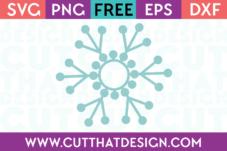 Monogram Snowflake SVG Free