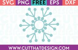 Free SVG Files Monogram Snowflake