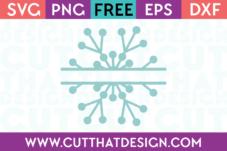 Split Monogram Snowflake Free SVG