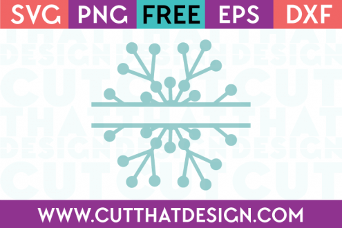 Free SVG Files Split Monogram Snowflake