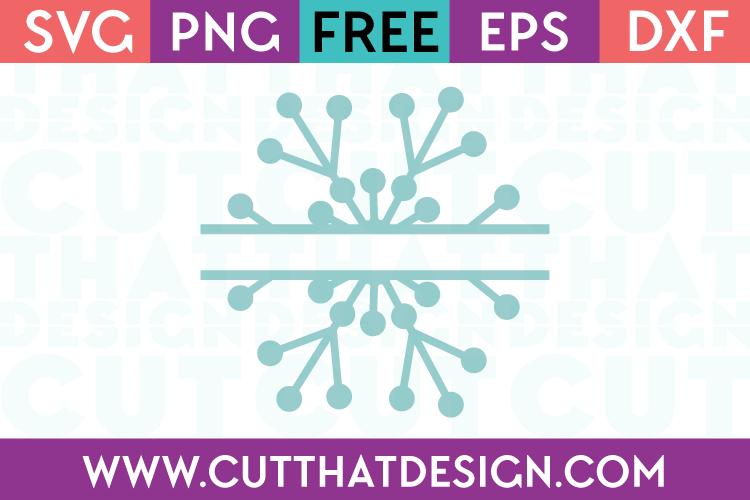 Free SVG Files Split Monogram Snowflake