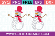 Free SVG Files Patterned Snowmen