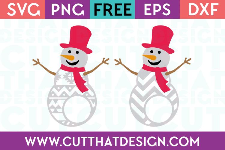 Free SVG Files Patterned Snowmen